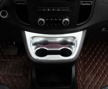 цена на Accessories For Mercedes Benz Vito W447 2014-2017 Chrome Car Styling Interior Water Cup Holder Trim Panel Frame Cover Plate