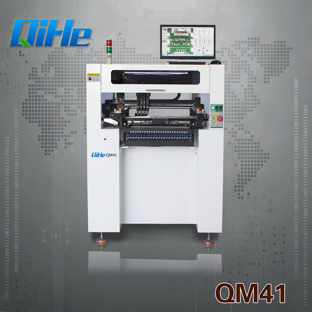 Qihe 4 Heads 38 Feeders Vertical Automatic Chip Mounter QM41 Pick and Place Machine