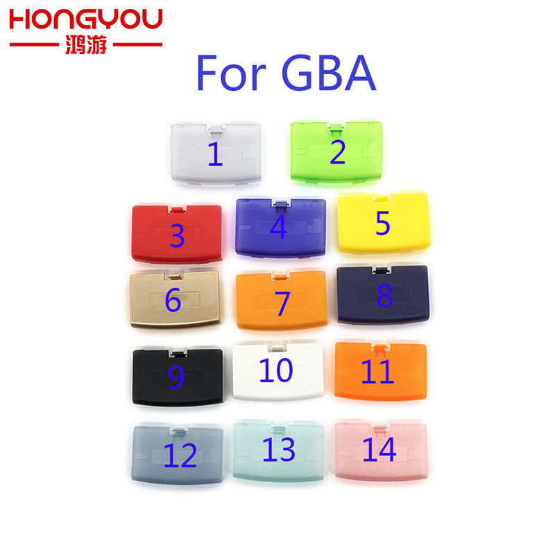 100Pcs For Nintendo For Game boy Advance GBA games accessories replacement Battery Pack Back Door Cover