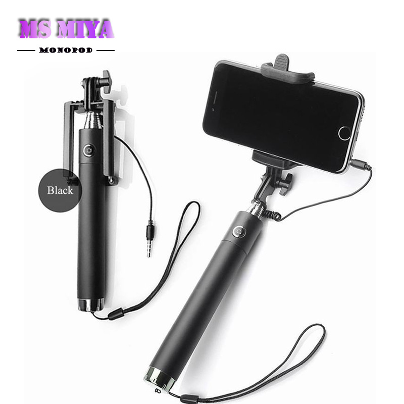 extendable wired handheld monopod selfie stick for iphone 6 5s 5 4s samsung g. Black Bedroom Furniture Sets. Home Design Ideas