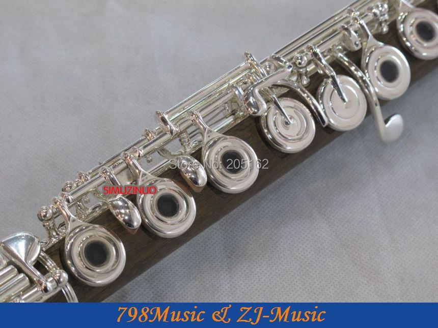 PROFESIONAL Hijau Cendana Flute-B-kaki-Open - Alat-alat musik - Foto 4