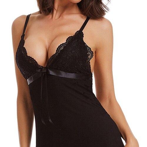 Sexy Night Dress Sleeveless Ni…