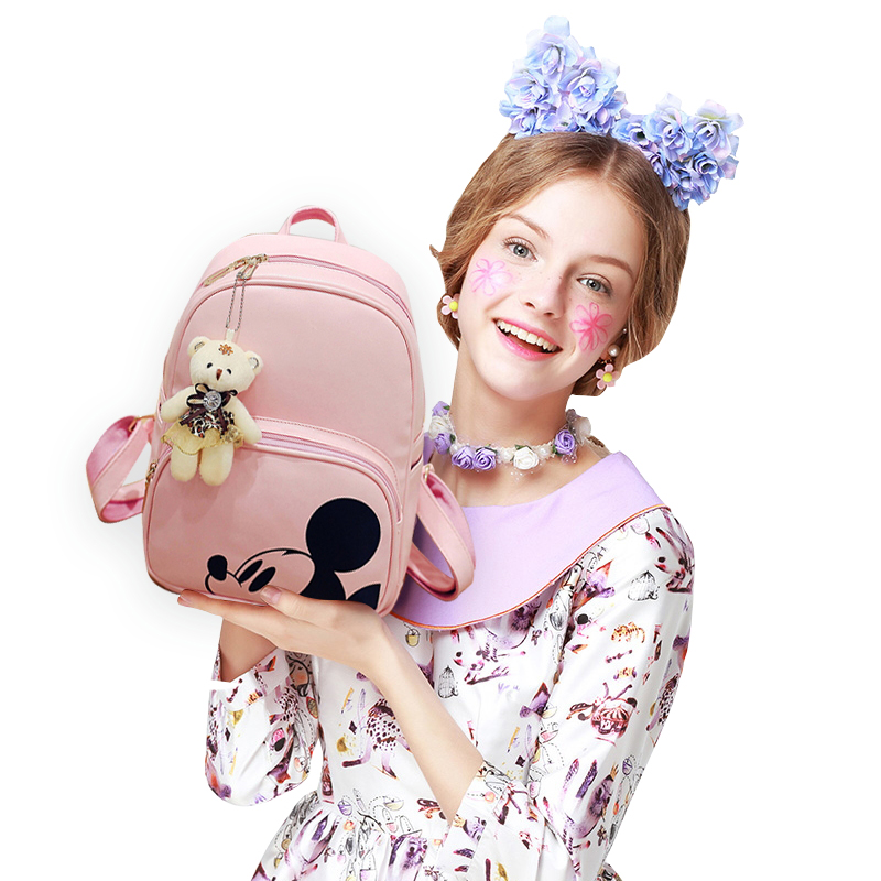 Kisstyle Women Composite Backpacks High Quality Pu Leather Fashion Mickey Backpack 3pcs/set Girls School Bag Mochila Feminina #6