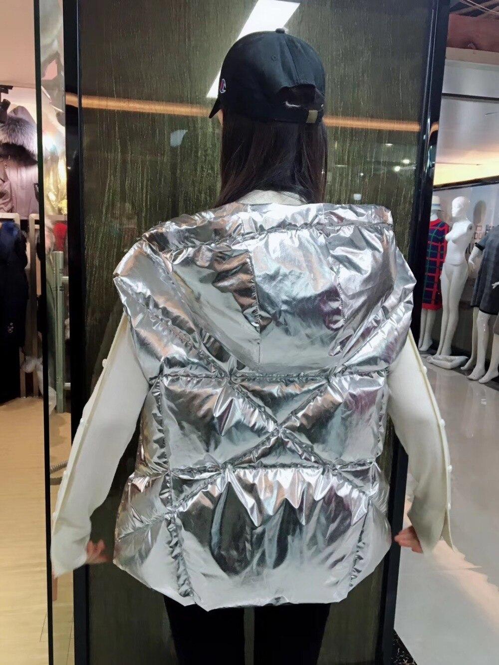 Vest Conception Hoodies Court Le Avec Highstreet Puffer Gilet 2018 Coupe Vers Bas vent Hiver Ruban Meifng q0BtpAS