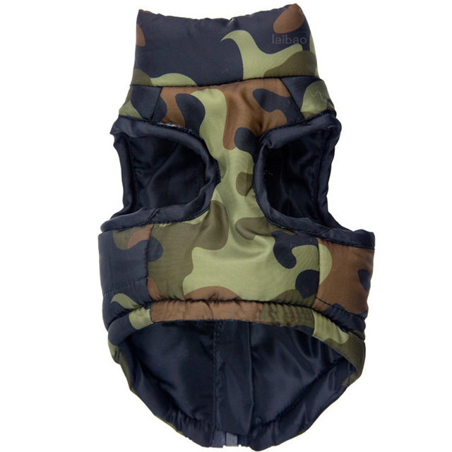 Waterproof Dog Coat Winter Puppy Clothes Camo Pattern Small Dog Jacket Chihuahua Yorkie Clothing 1