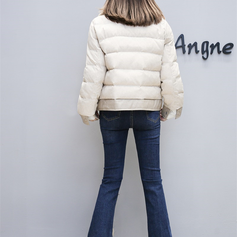 Womens Basic Turn Lamb Jacket Outwear Cotton Collar Winter Coats Parkas Coat Women Down Jackets New 2018 Mumuzi Female A8ztZwx