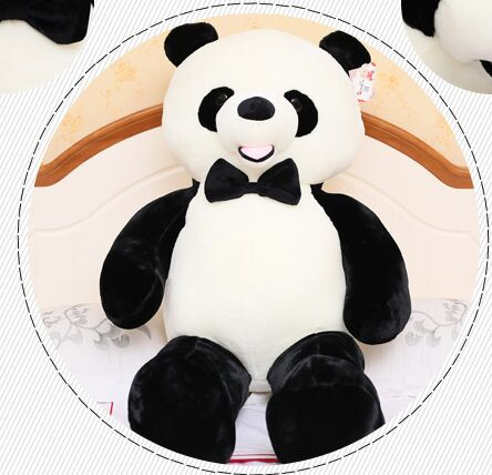 new cute plush panda toy high quality bow panda doll gift about 100cm 40cm super cute plush toy panda doll pets panda panda pillow feather cotton as a gift to the children and friends