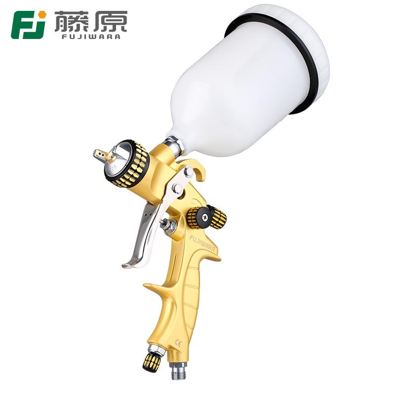 цены на FUJIWARA 5000G Paint Spray Gun 100cc/600cc/1000cc Automobile Sheet Metal Painting Tool High Atomizing Upper Pot Pneumatic Paint в интернет-магазинах