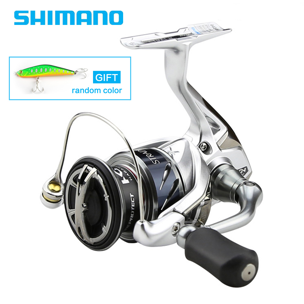 Shimano Original Stradic FK 1000HG 2500HG 4000XG C5000XG Spinning Fishing Reel Saltwater 6+1BB Max Drag 24LB XSHIP HAGANE Design shimano stradic ci4 spinning reel with extra handle knob 1000hg 2500hg c3000hg 4000xg 6 2 1 high gear ratio 6 1bb fishing reel