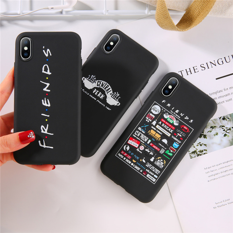 Lovebay For IPhone 6 6s 7 8 Plus X XR XS Max 11 Pro Max 5 5s SE Phone Case Central Perk Friends Soft TPU Case For IPhone XS