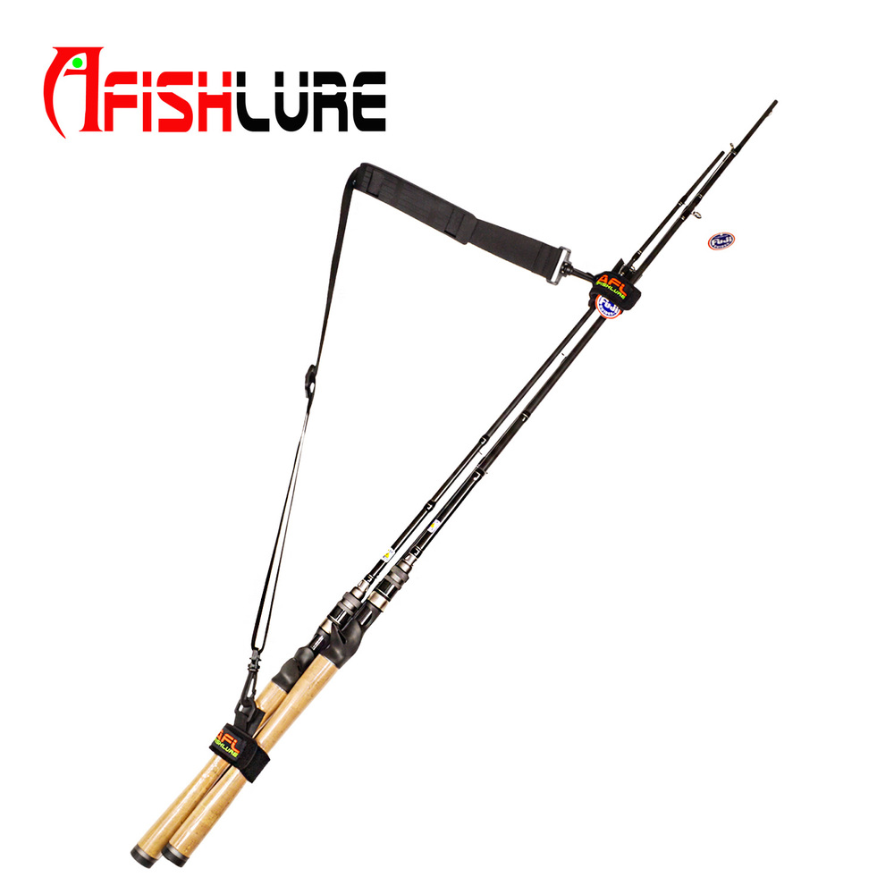 Afishlure Fishing Rod Carry Strap Bait Cast Rods Travel Belt Replacing for Fish Rod Bags ...