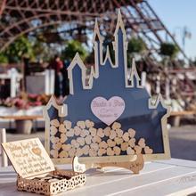 Персонализация замок в форме свадебного гостя Книга Упаковочная коробка фирменная Гостевая книга Бесконечная любовь Альтернативная Гостевая книга прямая коробка