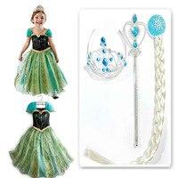 Princess Girl Dress Snow Queen Cosplay Dress Costume Children Baby Kids Dresses Fantasia Infantis Vestido Menina