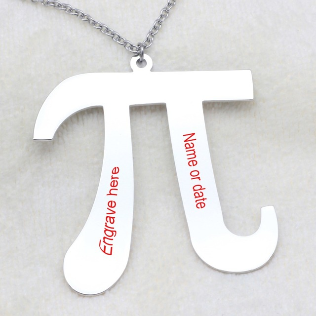 Personalized Pi Alphabet Necklace Birthday Gift Sixteenth Letter Of The Greek For Her N2050