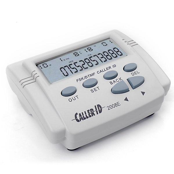 Adaptador de telefone Cinza Branco FSK/DTMF Identificador de chamadas do Telefone Caixa Do Telefone Móvel Exibição História Próximas Chamadas + Cabo LCD tela # S0141