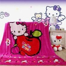 Textiles para el hogar, de apple hello kitty estilo de dibujos animados cómodo coral polar mantas para colchas ropa de cama puede ser la cama hoja