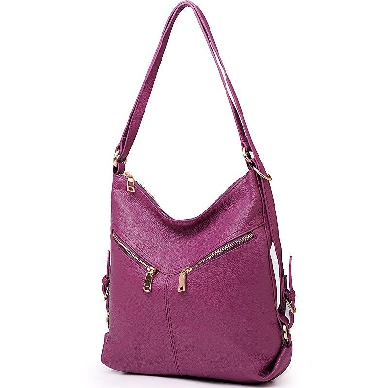⑥Nueva moda famoso diseñador señora del cuero genuino bolsos de ...