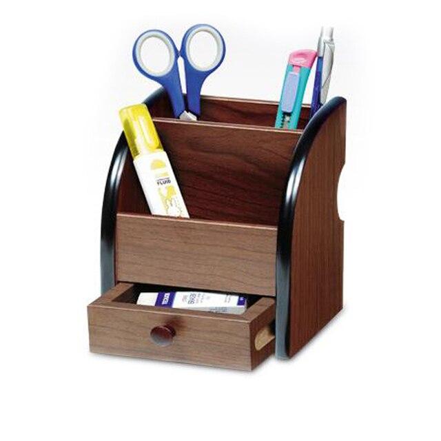 High Quality Wooden Pen Holder Stationery Holder Pen Pots Desk