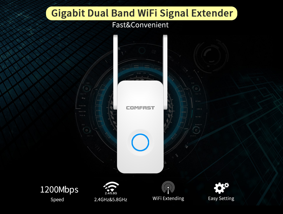 Wireless N 5g ac wifi router 1200Mbps WiFi Repeater Amplifier WiFi for Network AP Router Range Signal Expander Booster Extender цены