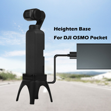 Increased base Heighten Desktop Base with Charging Hole for DJI OSMO Pocket Mount Handheld Gimbal Stabilizer Holder Accessories