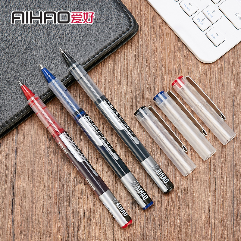 AIHAO Brand 0.5mm Bullet Point Permanent Ink Gel Pen School Students Test Office Straight Writing Neutral Pens Stationery Gift