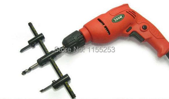 Adjustable Wood Drywall Circle Hole Drill Cutter Bit Saw Use 30mm to 300mm Circle Hole Saw Cutter Drill Bit SH-058 new 50mm wall hole saw drill bit set 200mm connecting rod with wrench mayitr for concrete cement stone