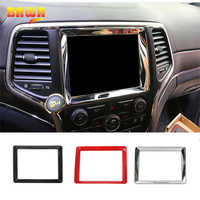BAWA Interior Mouldings GPS Decoration Frame Trim For Jeep Grand Cherokee 2014-2016 Car Accessories