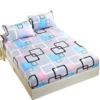 침구 침대 세트 및 장착 시트 침대 시트  베갯잇 및 순수 솔리드