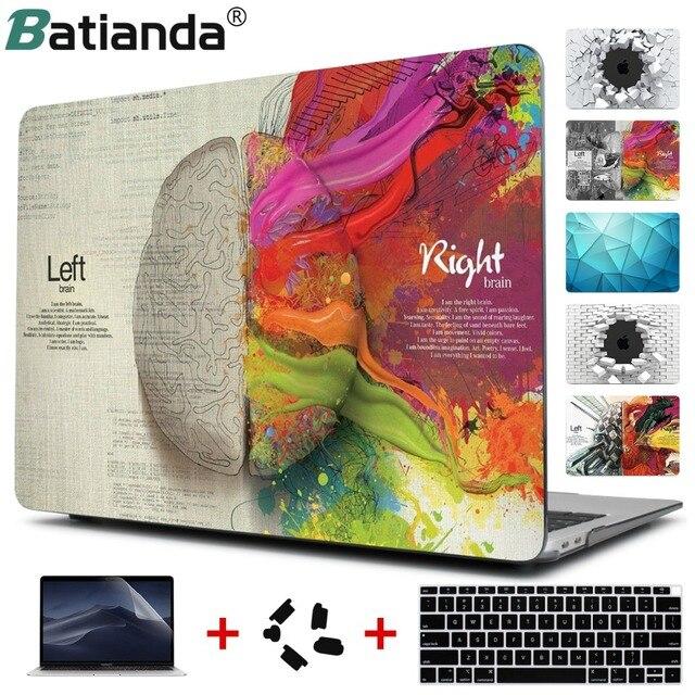 Housse pour ordinateur portable en cristal Batianda pour Apple MacBook Air Pro Retina 11 12 13 15 pour nouveau Pro 13 15 pouces tactile Bar nouveau Air13 A1932
