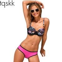 2016 New Sexy Bikini Push Up Swimwear Women Set Swimsuit Retro Vintage Beach Bathing Suits Swim