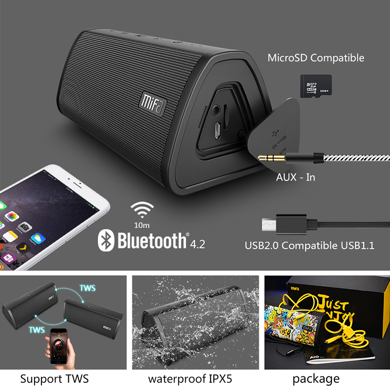 Portable Wireless Bluetooth Speaker Waterproof Sound System 1 3