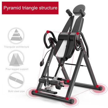 Heavy Duty Gravity Inversion Table Foldable Back Neck Pain Exercise Therapy Bench Home Gym Body