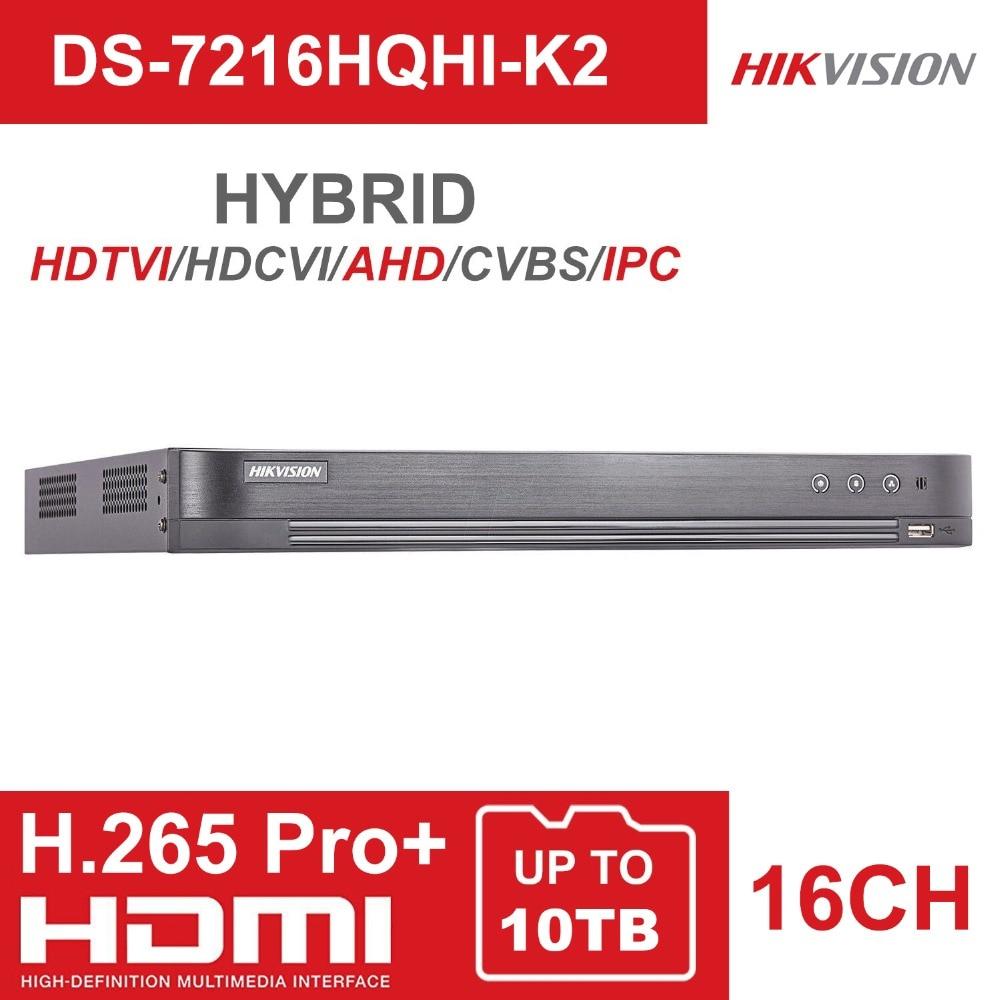 Hikvision 16CH 5 In 1 AHD DVR Support CVBS TVI CVI AHD Analog IP Cameras HD P2P Cloud H.265 VGA HDMI video recorder RS485 Audio