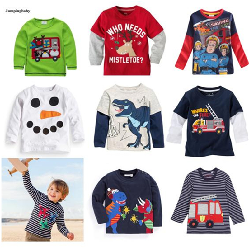Children Clothing New 2019 Quality 100% Combed Cotton t <font><b>shirt</b></font> <font><b>Baby</b></font> Boys Clothes <font><b>Long</b></font> <font><b>Sleeve</b></font> Bebe Kids t-<font><b>Shirt</b></font> Underwear Boys Tee image