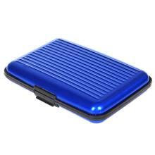 Funda rígida de bolsillo para tarjetas de crédito, tarjetero de aluminio, antirfid, protección de escaneo