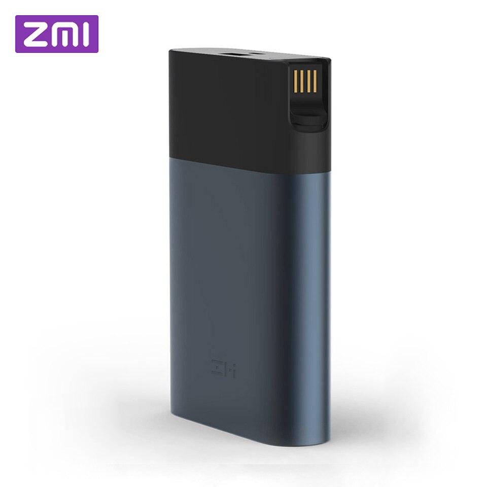 Оригинальный Xiaomi ZMI 4G Wi-Fi маршрутизатор 10000 мАч запасные аккумуляторы для телефонов 3g 4G LTE Мобильная точка доступа мАч 2,0 мАч QC 10000 Quick Charge бата...