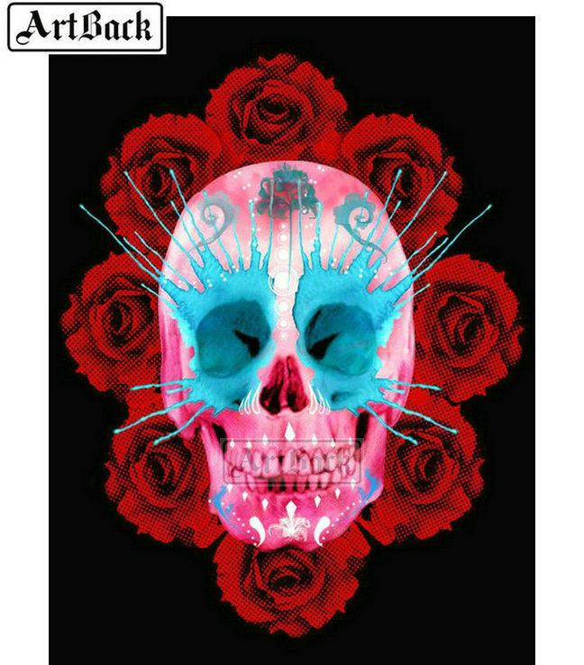 Special Shape Drill Diamond Painting LOS MUERTOS Skull 3D DIY Home Decor Gifts
