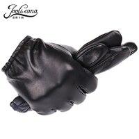 JOOLSCANA genuine leather gloves men fashion driving wrist gloves winter autumn made of Italian imported natural sheepskin