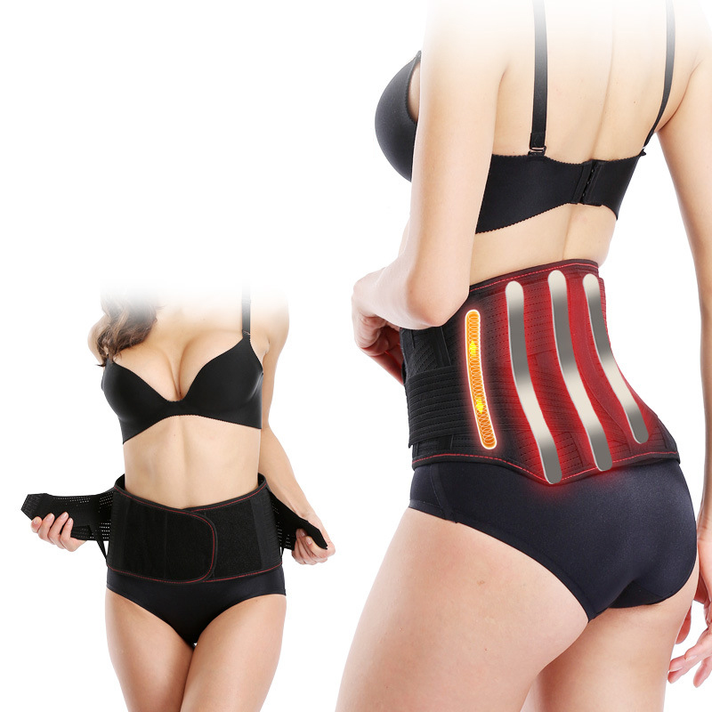 Magnetic Therapy Tourmaline Self heating Waist Support Belt Lumbar Back Waist Support Brace Double Banded Adjustable Size XL