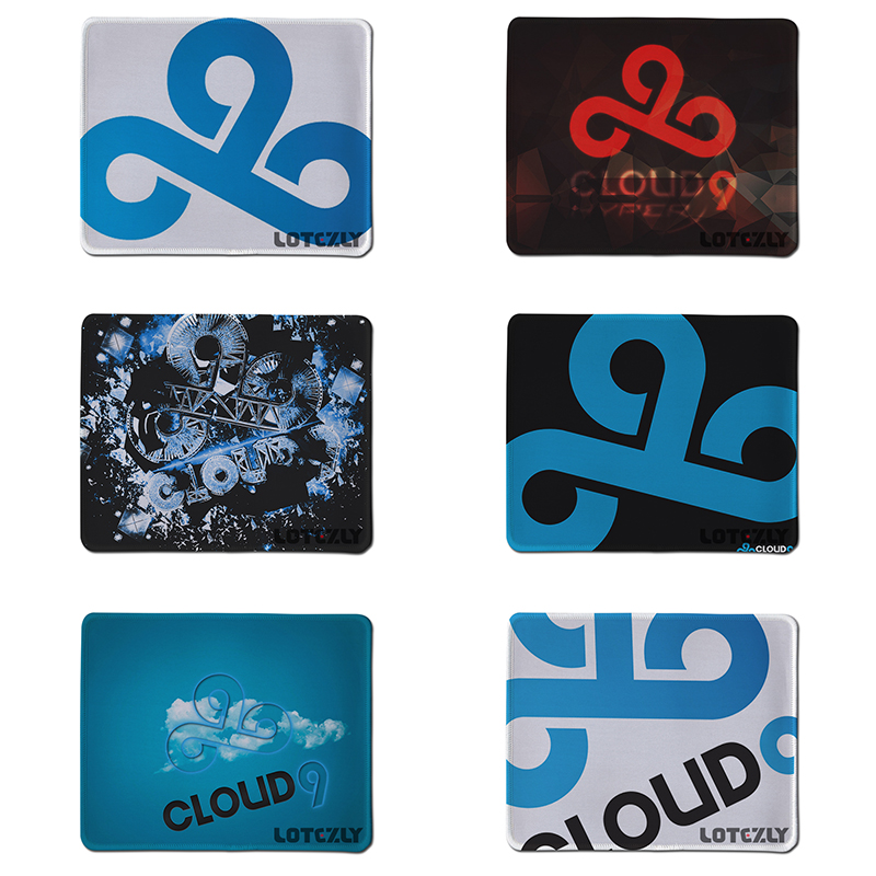 Large Gaming Gamer Mouse Pad Rubber Mousepad For Computer Laptop Anime Mousepad Cloud Style Locking Edge