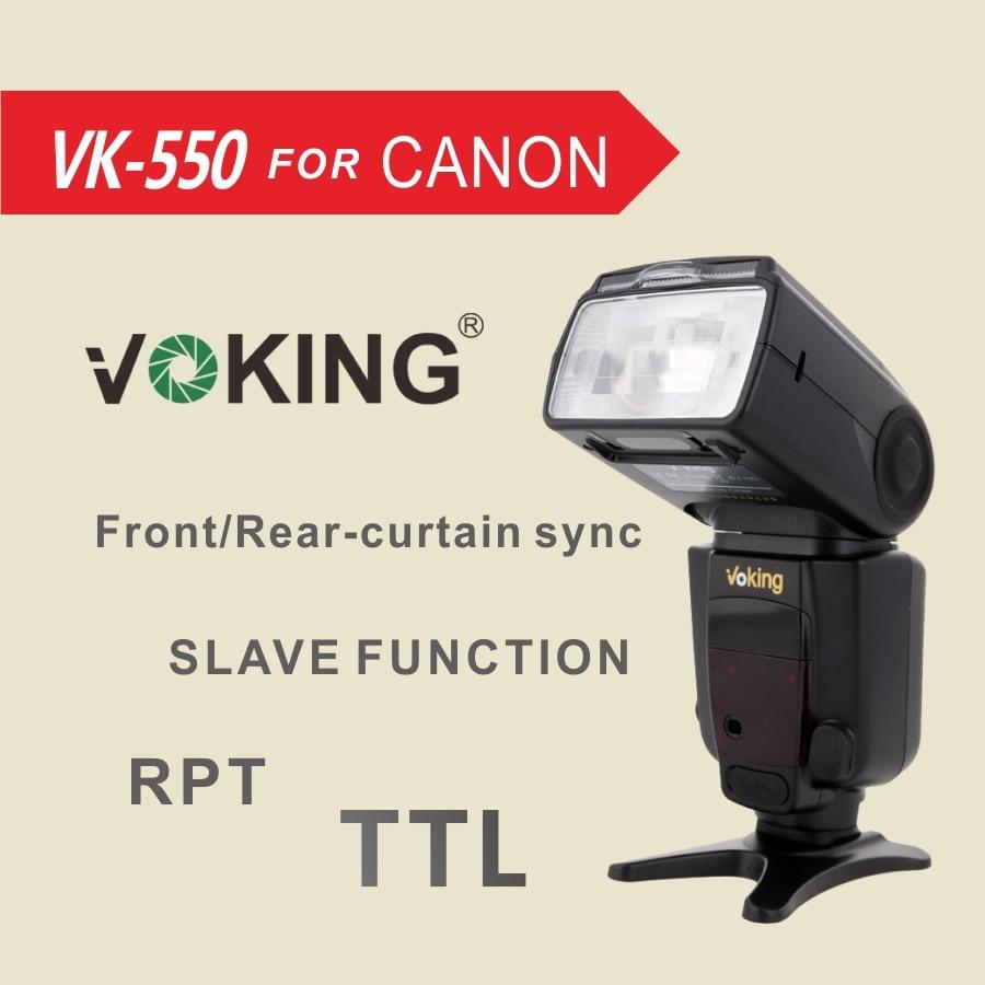 Voking E-TTL Flash Speedlite VK550 for Canon 5DIII II 7D 5D2 5D3 6D 70D 60D 600D 650D 550D 100D Digital SLR Cameras nissin di600 фотовспышка для canon e ttl e ttl ii