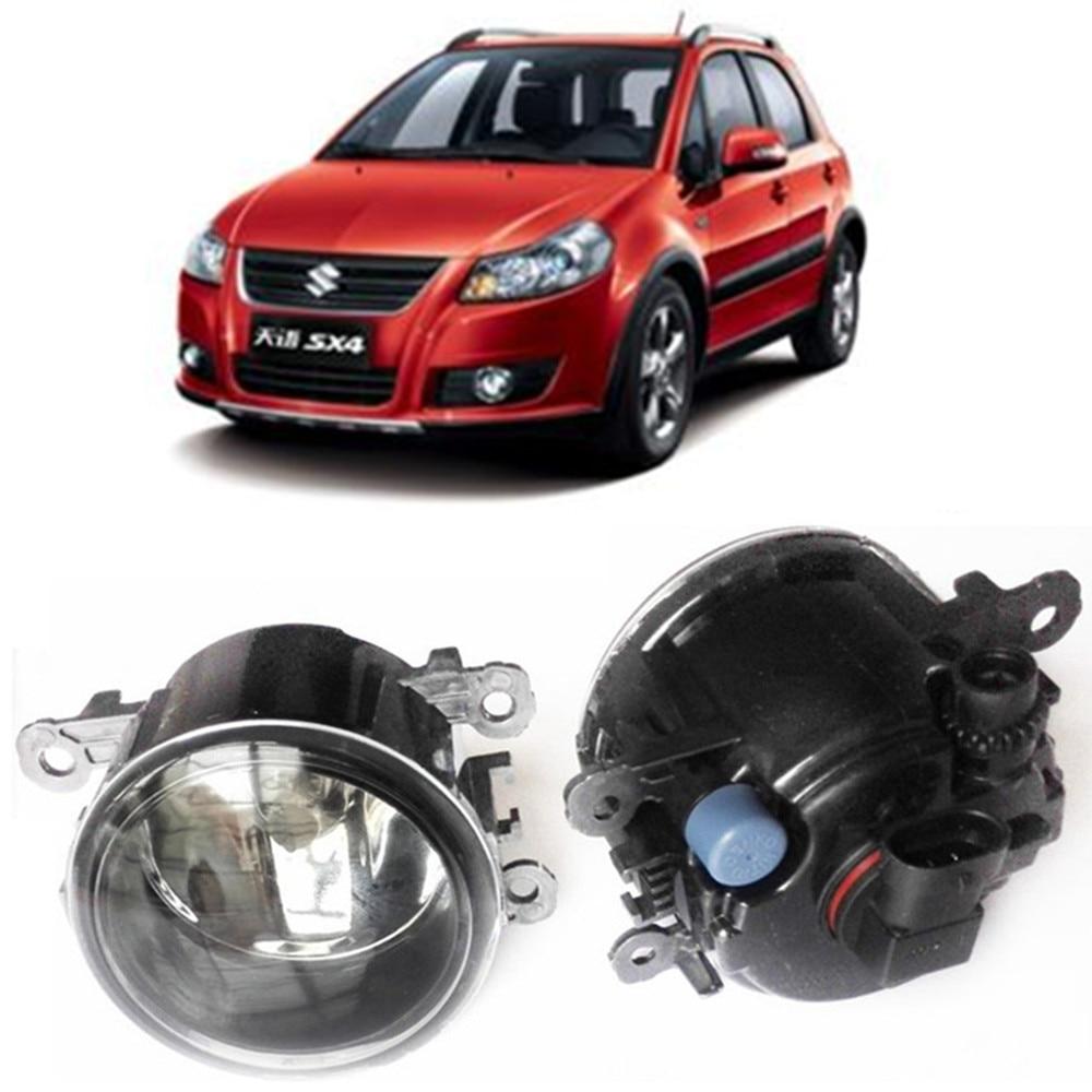 For SUZUKI SX4 GY Hatchback  2006-2014 Car styling Fog Lamps halogen Fog lights 1SET for suzuki sx4 gy hatchback 2006 2012 car styling fog lamps halogen fog lights 1set