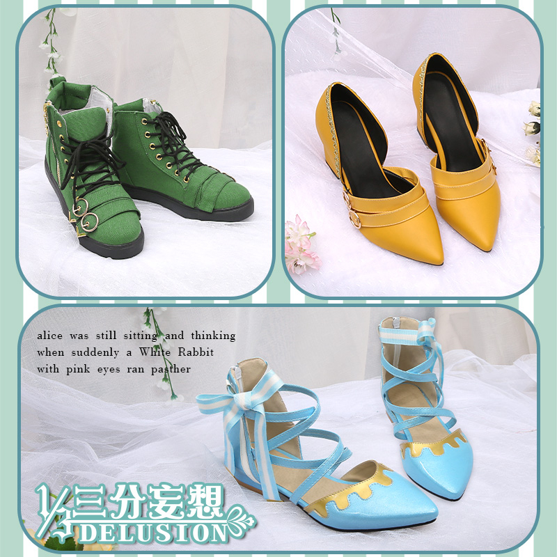 Anime Vocaloid Kagamine Rin Len Miku Alice in Wonderland Cosplay <font><b>Shoes</b></font> <font><b>Lolita</b></font> Cos <font><b>Shoes</b></font> H image