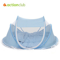 0 3 Years Baby Crib Baby Bed With Pillow Mat Set Portable Foldable Crib With Netting