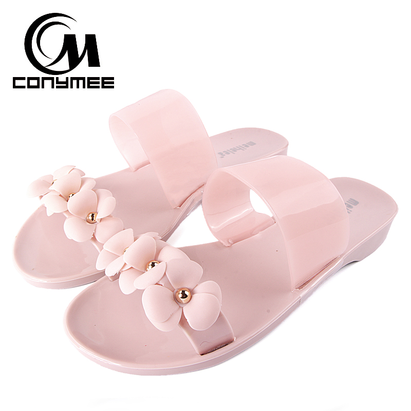 2018 Summer Beach Slippers Sandals Women Flower Flip Flops Big Size Jelly Shoes Girl Lady Sandal Flat Shoe Crystal Slipper лампа c2r a6 9005 hb 3