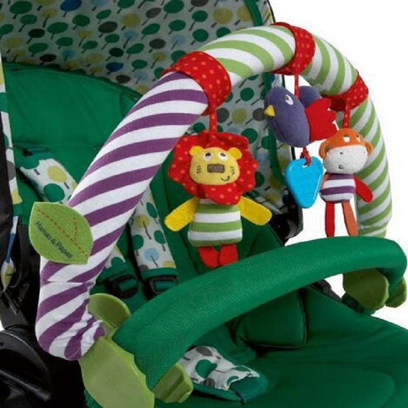 0-12 Måned Baby Mobil Musisk Seng Spill Barnevogn Dreiebenk Seat Ta - Baby og småbarn leker - Bilde 2
