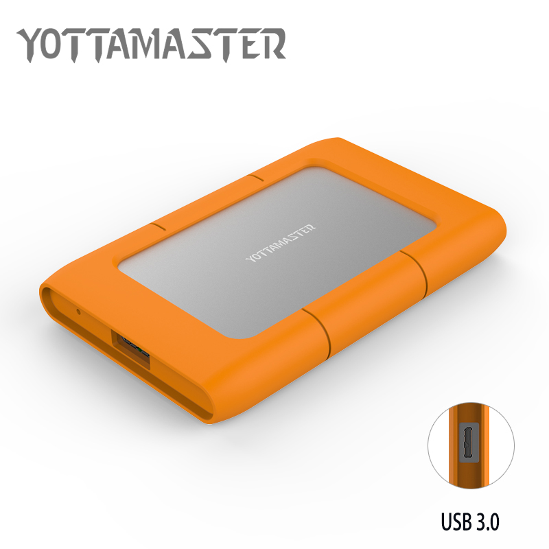 Yottamaster HDD Enclosure Sata3.0 to USB3.0 HDD Case Hard Drive Box for 2.5 inch SATA HDD and SSD with Silicone Protective Case