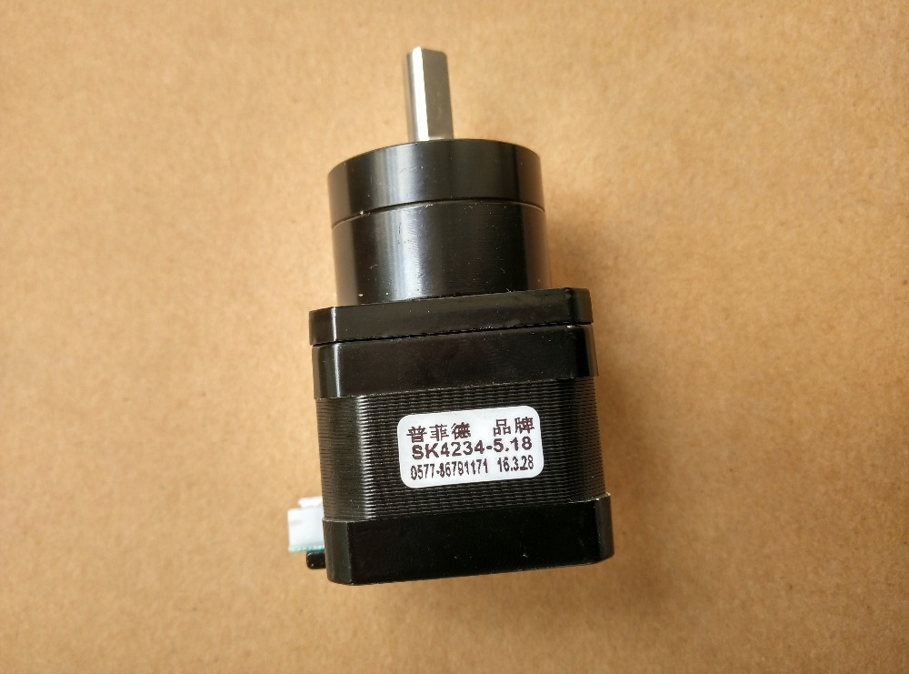 42mm Planetary Gearbox Geared Stepper Motor Ratio 5.18:1 Nema17 L 34mm 1.5A 3D Printer 57mm planetary gearbox geared stepper motor ratio 10 1 nema23 l 56mm 3a