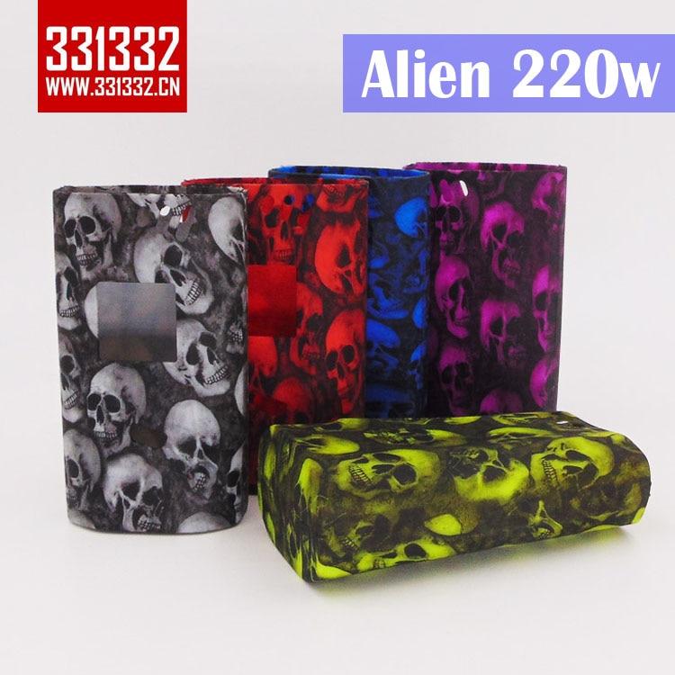 original 331332 New Design Alien 220w Skull Head Silicone Case Protective Silicone Case For SMOK Alien