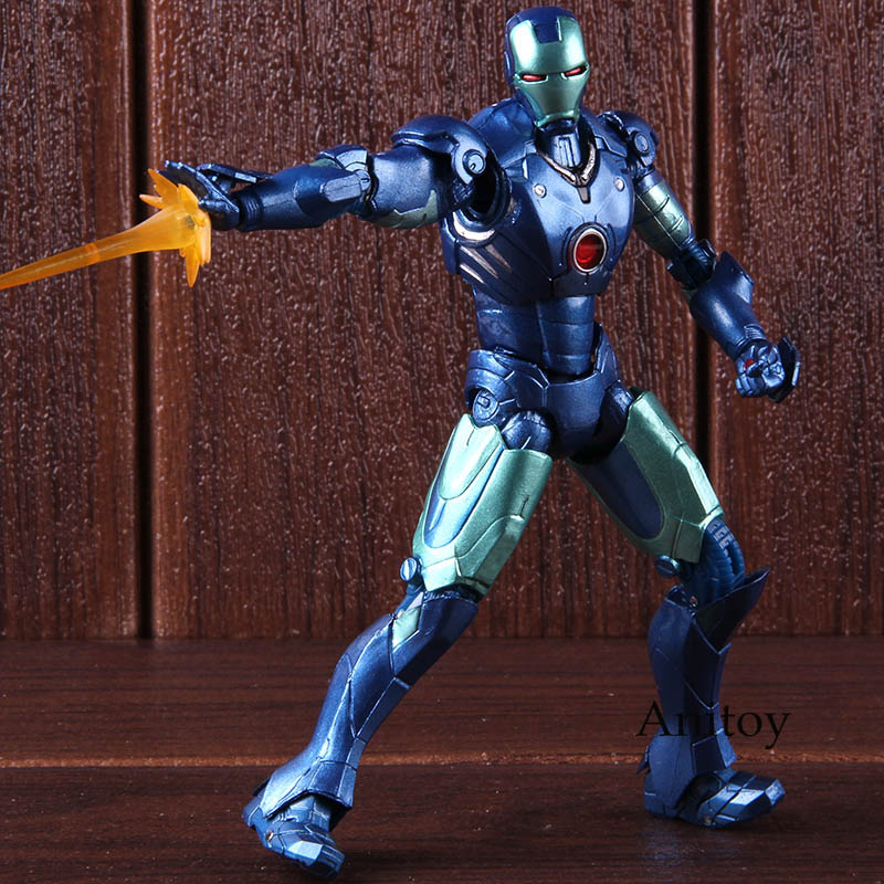 SHFiguart Marvel Avengers Action Figure Iron Man MK3 Blue ...